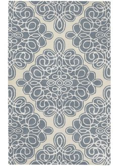 Candice Olson Modern Classics Damask Gray Blue Hand Tufted Wool Rug @House Beautiful June 2011
