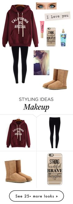 """""""Sometimes I just don't know what to do"""" by jesuslovingirl on Polyvore featuring Casetify, Victoria's Secret, UGG Australia, women's clothing, women, female, woman, misses and juniors"""