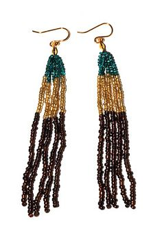 Wait, I Can Make That!: Tri-Color Tassel earrings Free beading jewelry tutorial