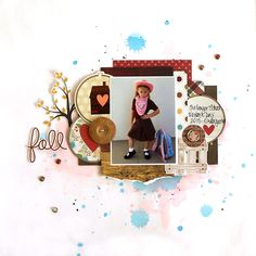 Fall - My Creative Scrapbook October Main kit 2015 - Simple Stories - Pumpkin Spice Collection