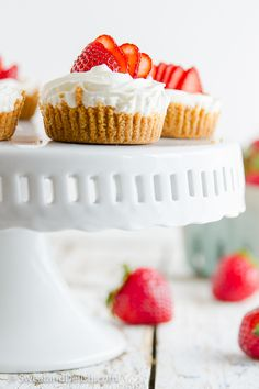 Strawberry Vanilla Cake Bites Recipe — Dishmaps