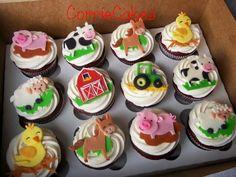 Farm cupcakes