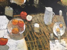 """Still life - getting more abstracted. 36""""x60"""" oil on canvas.  Paul Balmer"""