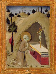 Sano di Pietro - San Girolamo nel deserto - Olio su tavola - Pinacoteca Nazionale, Siena, Italia