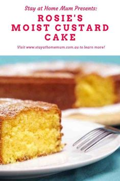 """""""A one-bowl recipe that makes a delicious yellow-cake that freezes well and tastes just lovely. Good enough to make for a birthday, and perfect when iced with a little lemon icing. Custard Powder Recipes, Custard Recipes, Milk Recipes, Easy Cake Recipes, Sweet Recipes, Baking Recipes, Easy Custard Recipe, Condensed Milk Cake, Kisses Recipe"""