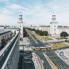 Frankfurter Tor (Frankfurt Gate) - a well known and always bustling square in the district of Friedrichshain, Berlin.