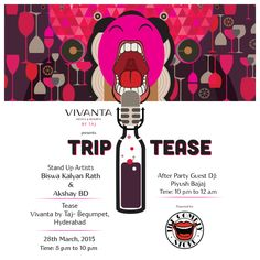 This 28th March there's no room for giggles, only long belly laughs allowed at Tease, Vivanta by Taj - Begumpet.  Book now & get ready to LOL: http://on.fb.me/1b7MVyD  #VivantabyTaj #TripTease #Laugh #Funny #Standup #comedy #Event