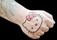 hello kitty with lots of hearts | Hello Kitty tattoo-to show your juvenile side | pictures tattoo ...