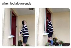 """75 Introvert Memes - """"When lockdown ends."""" 75 Introvert Memes - """"When lockdown ends. Crush Memes, Stupid Funny Memes, Funny Relatable Memes, Funny Stuff, Funny Gifs, Funny Quotes, Funny Shit, Funny Things, Disney Memes"""