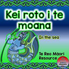 "This te reo Maori sea resource will help integrate a Maori perspective and Maori language into your sea topic. ""Every classroom in New Zealand should reflect both partners of Te Tiriti o Waitangi"" **Wall identification labels in te reo Maori and English. Teaching Kids, Teaching Resources, Sea Activities, Maori Art, Classroom Environment, Sea Art, Earth Science, Moana, Under The Sea"