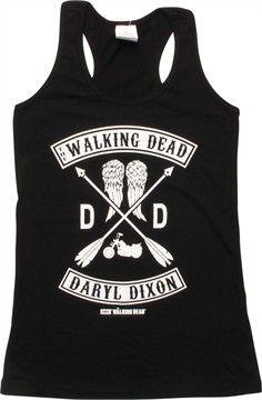 Walking Dead Daryl DD Racer Tank Juniors T-Shirt