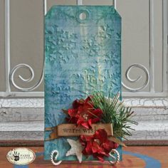 Tim Holtz Tag with Rock Candy and debossing technique