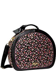 SCARF FACE TRAIN CASE BLACK MULTI accessories handbags non leather fashion