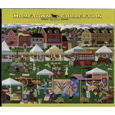 Hometown Collection 1000 Piece Puzzle - Fabulous Farmer's Market by Heronim   by RoseArt