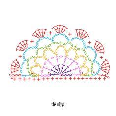 Crochet Clutch Pattern, Crochet Mandala Pattern, Crochet Diagram, Tapestry Crochet, Crochet Patterns, Crochet Geek, Crochet Home, Knit Crochet, Irish Crochet