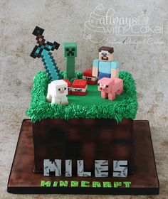 Mine Craft Cake