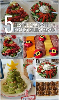 Healthy Holiday Party Food - lots of clever & cute Christmas party treat & recipe ideas.