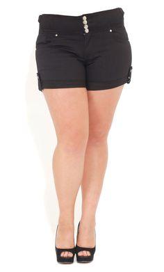 City Chic HI WAIST CUTIE SHORT-Women's Plus Size Fasion