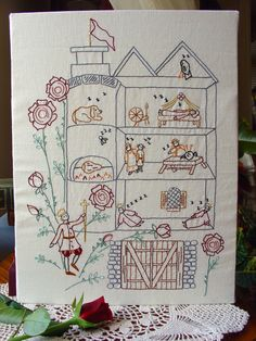 Briar Rose  Embroidery Pattern PDF  Sleeping by littledorritandco, $6.00