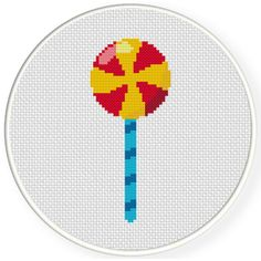 Cross Stitch Boards, Simple Cross Stitch, Cross Stitch Baby, Cross Stitch Embroidery, Cross Stitch Patterns, Swirl Lollipops, Knitting Charts, Pixel Art, Needlework