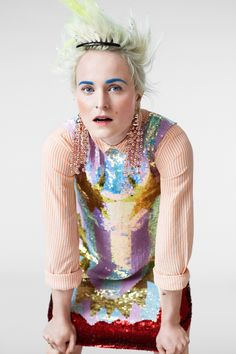 Louise Gray X Topshop / colored brows