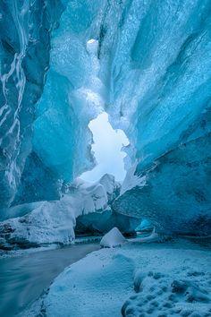 Europe, Iceland ~ vatnajökull glacier ice cave II by Adriano Neves