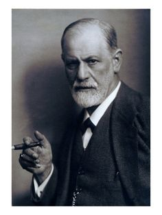 Sigmund Freud Smoking Cigar in a Classic Early 1920s Portrait