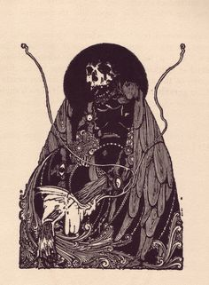 """""""Tales of Mystery and Imagination"""", Illustrations for the book by Edgar Allan Poe, 1919. Harry Clarke (Irish, 1889-1931)."""