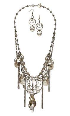 Multi-strand messy chain necklace