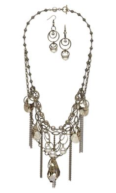 Multi-strand messy chain necklace