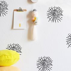 Hand Painted Burst - WALL DECAL