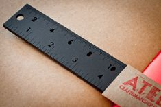 A sexy ruler and not an oxymoron! Black Ruler 12 inch by AtelierDmontreal on Etsy.