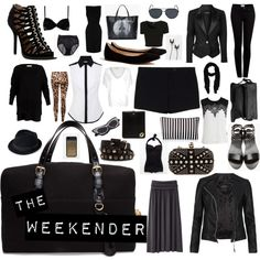 What to pack for a weekend trip by jackie-kayyy, via Polyvore