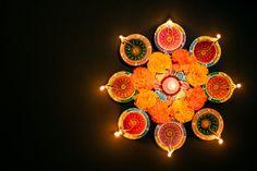 Happy Diwali - Clay Diya Lamps Lit During Dipavali, Hindu Festival Celebration Diy Diwali Decorations, Festival Decorations, Flower Decorations, Hindu Festival Of Lights, Hindu Festivals, Indian Festivals, Diwali Poster, Diya Lamp, Christmas Lights Background