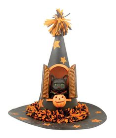Black Cat In Witch�s Hat from The Holiday Barn