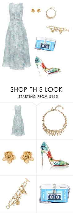 """""""Untitled #31"""" by doanthanhtra ❤ liked on Polyvore featuring Andrew Gn, Oscar de la Renta, Christian Louboutin and Dolce&Gabbana"""