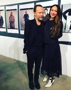 Thom Yorke and his new girlfriend actress Dajana Roncione - #Radiohead