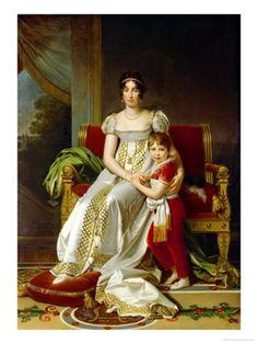 GERARD Francois - French (1770-1837) ~ Hortense De Beauharnais (1783-1837) Queen of Holland and Her Son, Napoleon Charles Bonaparte