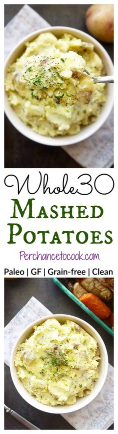 Whole30 Mashed Potatoes | Perchance to Cook, www.perchancetocook.com