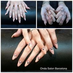 Uñas de gel - reconstrucción de uñas - gel nails - nail reconstruction by Onda Beauty Team. #Ondasalon #uñasdegel #gelnails #esteticaBarcelona #Barcelona #Barceloneta