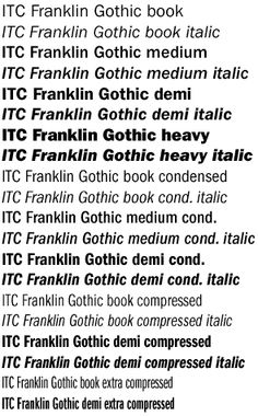Franklin Gothic Typeface one of my favorites at the moment