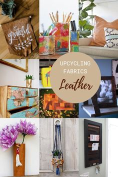 Upcycling fabrics for the home is environmentally friendly affordable and adds an element of personalization. You can use denim sweaters cottons and leather. Upcycled Crafts, Repurposed, Diy Crafts, Mod Podge Crafts, Fabric Placemats, Yarn Storage, Diy Furniture Projects, Easy Diy, Fabrics