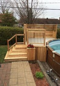 Take your patio layout design to the next level with our list of favorite ideas. Whether it is large patios, or fire pits you will find everything you need Above Ground Pool Landscaping, Above Ground Pool Decks, Backyard Pool Landscaping, Backyard Pergola, In Ground Pools, Landscaping Ideas, Pergola Kits, Pergola Ideas, Patio Ideas