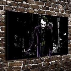 H2005 Joker Batman Anime Movie Heath Ledger Joker.HD Canvas Print Home decoration Living Room bedroom Wall pictures Art painting