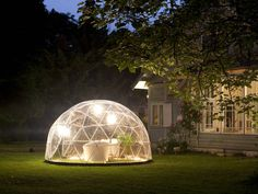 Geodesic Garden DomeOptional beige summer canopy cover available for £349 to provide sun shadeMultipurpose outdoor living space for relaxation, play, hobbies or storage Suitable as a summer canopy and winter garden Diameter 3.6m Height 2.2m Entrance height 1.8m x 0.7m Self assembly – comes with instruction guide. Slide fit system; no tools required Eco friendly and low maintenance with transparent PVC cover Rust & Rot Free: materials used are high-quality, non-corrosive and r...