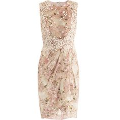 Giambattista Valli Sleeveless lace and floral-print dress ($2,247) ❤ liked on Polyvore featuring dresses, vestidos, short dresses, платья, mini dress, lace mini dress, sleeveless dress, tulip skirt and pink dress