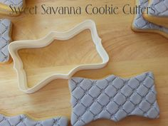 Rectangular Plaque Cookie Cutter No.4    Sizes available approx. 4 inches wide x 2 inches high.  3 inches wide x 1.5 inches high.  2 inches