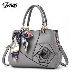 ZMQN Bags Handbags Women Famous Brands Scarves Shoulder Bag For 2018 Luxury Handbags Women Bags Designer PU Leather Flowers A902