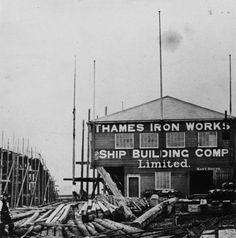 Box Canvas Print (other products available) - The Thames Ironworks and Shipbuilding Company. (Photo by Hulton Archive/Getty Images) - Image supplied by Fine Art Storehouse - inch Box Canvas Print made in the UK Fine Art Prints, Framed Prints, Canvas Prints, West Ham United Fc, History Of Photography, Photo Mugs, Photo Gifts, Photographic Prints