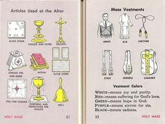 Articles used at the altar and the Mass Vestments